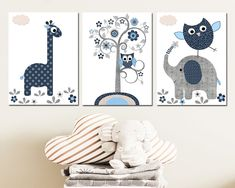 Owl Wall Art, Baby Wall Art, Art Wall Kids, Nursery Wall Art, Nursery Sets, Baby Boy Nursery Decor, Baby Prints, Nursery Prints, Dragon Nursery