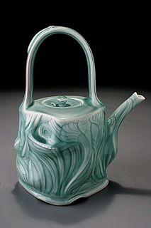 Elaine Coleman's lovely carved porcelain