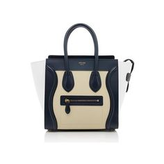 9a7b09cd23b9 Rental Celine Tricolor Leather Micro Luggage Tote ( 325) ❤ liked on  Polyvore featuring bags