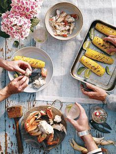 food + drink | lobster bake | repin via: fork and flower