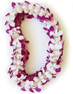 Double Orchid Leilani (Heavenly Lei) ~ A HawaiiFlowerLei.com exclusive design.