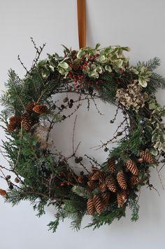 Foraged Evergreen Wreath Christmas Time, Christmas Wreaths, Autumn Wreaths, Evergreen, Holiday Decor, Flowers, Handmade, Home Decor, Christmas Garlands