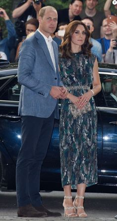 Prince William, Duke of Cambridge and Catherine, Duchess of Cambridge arrive for a reception at 'Clächens Ballhaus' dance hall in Berlin, on the second day of the British royal couple visit to Germany, on July 20, 2017 in Berlin.