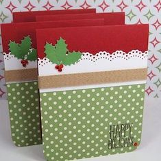 Handmade Christmas cards, exactly like homemade Christmas gift baskets and hampers. They are the very best approach to add your personal touch to the yearly Christmas holiday. Christmas Card Crafts, Homemade Christmas Cards, Christmas Cards To Make, Xmas Cards, Homemade Cards, Christmas Carol, Christmas Tree, Christmas Cards For Children, Simple Christmas