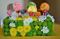 Italian caterers The Lobby lollipop centerpiece