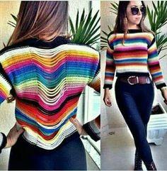 Crochet Poncho Patterns, Crochet Shawls And Wraps, Crochet Blouse, Crochet Bikini, Crochet Cable, Cute Crochet, Knit Crochet, Knitting Stiches, Crochet Stitches