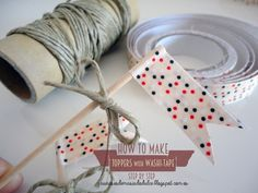 How to make Cupcakes Toppers with Washi Tape