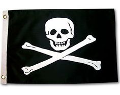 Pirate Jolly Roger Outdoor Garden Nylon Flag 3x5ft . $11.99. 3ft x 5ft Flag. Quality Outdoor Flag.. Double sided.. Brass grommets. Made of durable nylon. Pirate Jolly Roger Outdoor Garden Nylon Flag 3x5ft Outdoor quality screen printed flag. Made of durable nylon. Double sided. Brass grommets. Size: 3 x 5 ft.