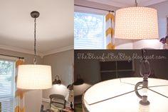 DIY Hanging {Drum} Light Fixture   The Blissful Bee