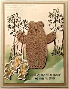 Going Fishin'! using Stampin' Up! Bear Hugs Stamp Set & Bear Hugs Framelits Dies #stampinup, #bearhugsstampset