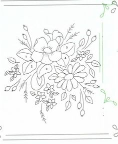 Embroidery Flowers Pattern, Folk Embroidery, Embroidery Transfers, Vintage Embroidery, Ribbon Embroidery, Flower Patterns, Embroidery Stitches, Embroidery Designs, Rangoli Patterns