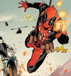 """""""How dare you throw wood in my grill?"""" (Deadpool #10, 2015)"""