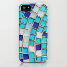 Blue Tiles - an abstract photograph. iPhone Case @Lauren Davison Davison Davison Hudson