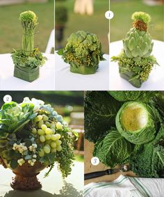 The assignment in my floral class this past Saturday was to create an arrangement using hollowed-out fruits or vegetables as containers. My ...