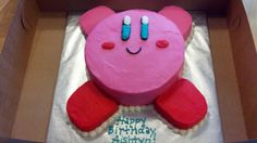First, of course, if you're gonna have a Kirby party, you've gotta have a Kirby cake.