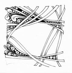Framing by Carol Ohl, Certified Zentangle Teacher. Like the overlapping, intertwining Holibaugh