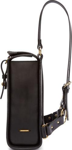 Fleet Ilya Black Leather Medium Harness Backpack Side View #1