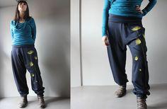 Pantaloni donna cavallo basso in jersey di lana  di NICOUTURE