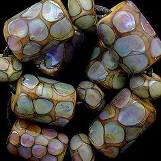 DSG Beads Hadmade Organic Lampwork Glass  Abalone от debbiesanders, $125.00