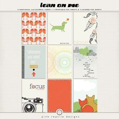 Lean On Me | Journal cards  http://the-lilypad.com/store/Lean-On-Me-Journal-cards.html