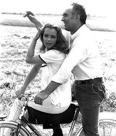 """Romy Schneider et Michel Piccoli - """"Les choses de la vie"""" de Claude Sautet - 1970"""