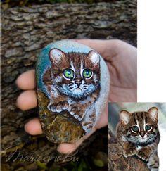 CUSTOM Pet Portrait Sea stones by MariannaArtStones on Etsy