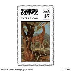 African Giraffe Postage