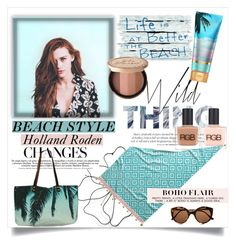 """""""Holland Roden -Beach style ♥"""" by tvdsarahmichele ❤ liked on Polyvore featuring John Robshaw, Samudra, RGB, Illesteva and Too Faced Cosmetics"""