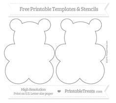 Free Printable Large Gummy Bear Template