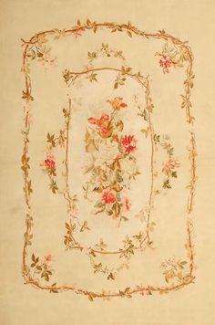 Antique Aubusson Carpet #43802  http://nazmiyalantiquerugs.com/antique-rugs/aubusson/