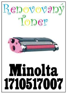 Renovovaný toner Minolta 1710517007 za bezva cenu 1396 Kč