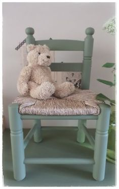 Hip kinderstoeltje met biezen zitting | Kinderstoeltjes | Cornelia`s Home