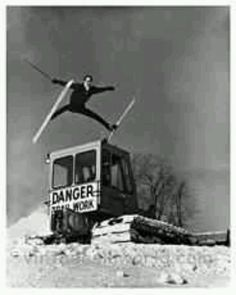 A great way to get your day pass pulled by the Ski Patrol.