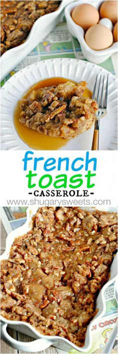 Overnight French Toast Casserole: make it ahead of time and enjoy your mornings. Overnight French Toast Casserole: make it ahead of time and enjoy your mornings. What's For Breakfast, Christmas Breakfast, Breakfast Items, Breakfast Dishes, Breakfast Recipes, Breakfast Potluck, Morning Breakfast, Christmas Morning, Overnight French Toast