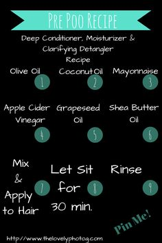 Natural Hair Pre Poo Recipe