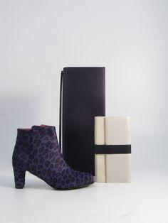 Hester van Eeghen: Serata black, Chocolate Huge cream, Giraffe purple leopard