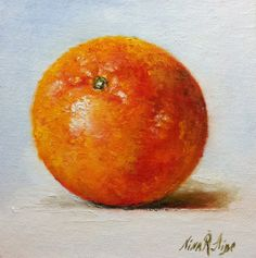 Orange  Original Oil painting by Nina R.Aide by RomaGalleries