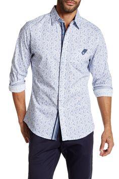 Long Sleeve Paisley Woven Shirt
