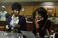 """And on the final """"Mad Men,"""" Don Draper became one with the universe. Mad Men Characters, Black Characters, Don Draper, Madison Avenue, Mad Men Peggy, Afro, Joan Harris, Mad Women, Men Tv"""