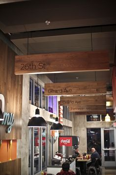 My burger redesign by nick smasal of fame design firm (minneapolis, mn) de casas interior design bedrooms design and decoration design office Shop Interior Design, Cafe Design, Retail Design, Store Design, Design Design, Interior Ideas, House Design, Restaurant Branding, Restaurant Design