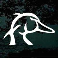 Duck head and deer antler - Huge selection of duck hunting and deer hunting car decals!