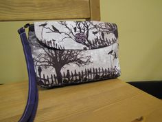 Raven Purple Clutch by NotNormalBags on Etsy, $18.00