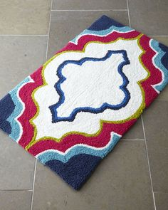 Marquee Bath Rug - so fun