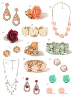 super affordable, Prada-inspired rosette jewelry at Forever 21.