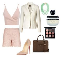 """""""the layed back professional"""" by michellemcnultyhoward on Polyvore featuring Valentino, Christian Louboutin, Henri Bendel, BaubleBar, Marc Jacobs and MAC Cosmetics"""