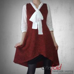 rochie scurta sau pulover lung V Collection, Knitwear, High Low, Skirts, How To Wear, Handmade, Dresses, Fashion, Vestidos