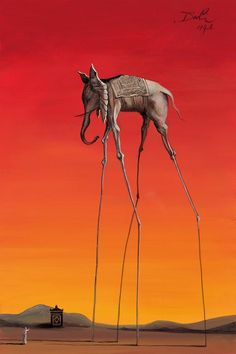 Elephant - Salvador Dali - so incredibly creative #art #artist #dali #painting #inspiration #artist #unique #creative
