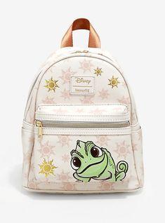 Loungefly Disney Tangled Pascal Sun Mini Backpack Source by hottopic and purses boho Mini Mochila, Cute Mini Backpacks, Girly Backpacks, Leather Backpacks, School Backpacks, Leather Bags, Disney Purse, Disney Handbags, Disney Tangled