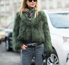 Loving the monochrome fur and scarf