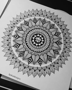 "97 Likes, 6 Comments - lipika gangakhedkar (@lipikadesigns) on Instagram: ""i finished this after 2 months of forgetting about it whoops #mandala #art #ink #iblackwork…"""